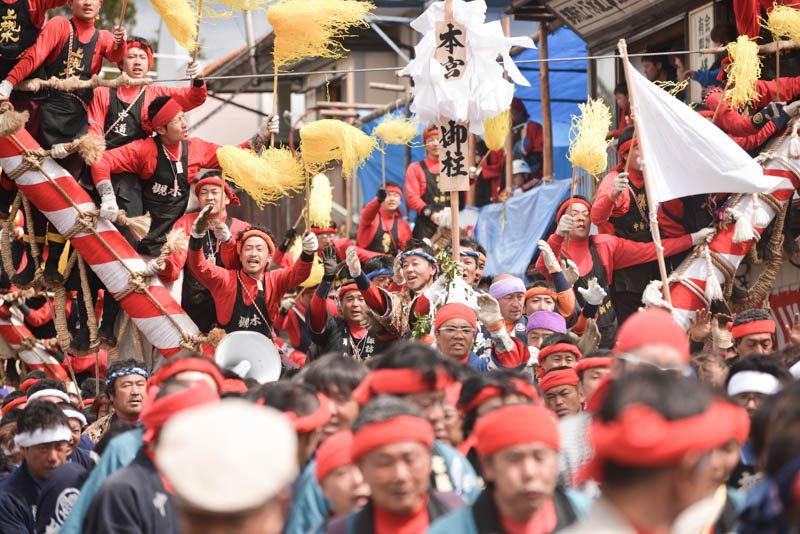 旅をする木 御柱祭りへ。