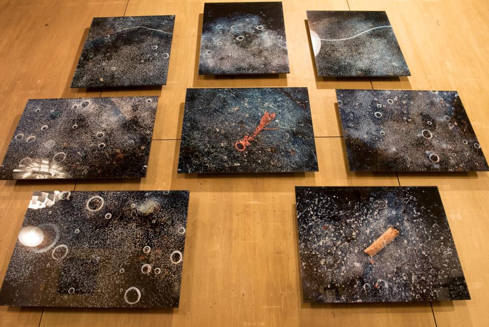 石下理栄さんの作品「うすらい 」展示